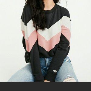 ISO Abercrombie Colorblock Crewneck Sweatshirt